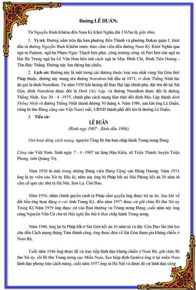 """Quét QR biển tên đường tại TP.HCM: Tên đường """"Lê Duẩn"""" nhưng giới thiệu nhân vật """"Lê Duẫn"""" - Ảnh 6."""