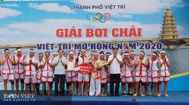 Phú Thọ: Kịch tính giải bơi Chải giữa hồ Văn Lang - Ảnh 4.