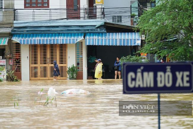 Người Huế tiếp tục lội bì bõm, bơi thuyền trong phố vì mưa ngập nặng nề - Ảnh 7.