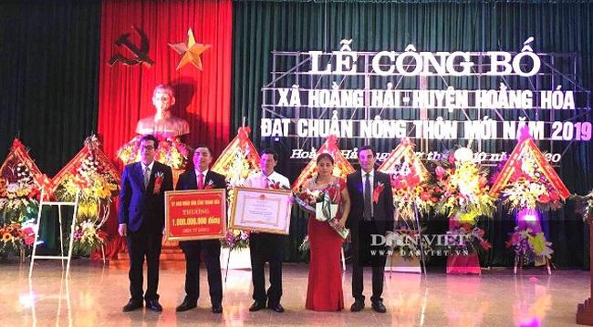 Xã cuối cùng của huyện Hoằng Hóa đạt chuẩn NTM - Ảnh 1.
