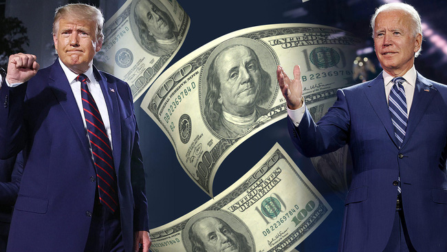 Thiếu hụt tiền nghiêm trọng, Trump đuổi không kịp Biden trong cuộc đua vào Nhà Trắng - Ảnh 1.