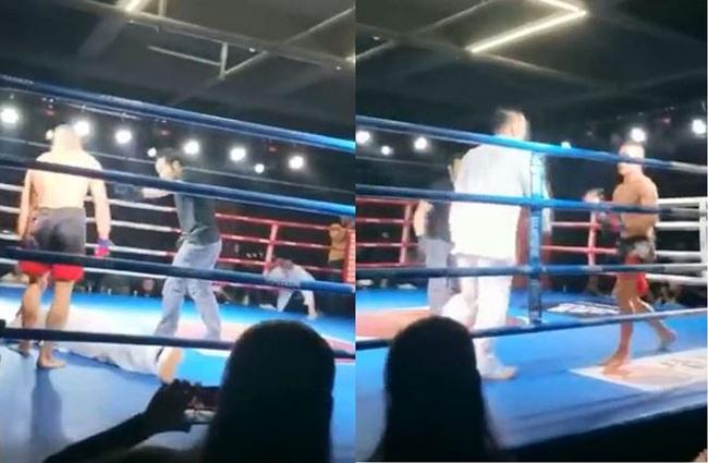 Clip: Thách đấu MMA, võ sư Trung Quốc bị đánh sấp mặt sau... 2 giây - Ảnh 1.