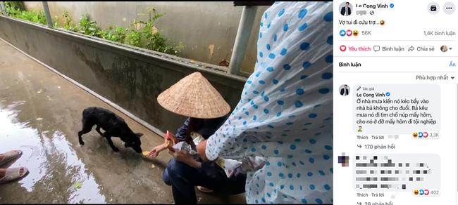 """HOT showbiz: Xúc động clip Thủy Tiên cứu trợ chú chó bị đói rét gây """"bão"""" mạng, Hoài Linh nhận hơn 7 tỷ đồng - Ảnh 1."""