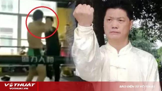 Clip: Thua võ sĩ MMA, cao thủ Thái cực Trung Quốc đánh lén hèn hạ - Ảnh 1.