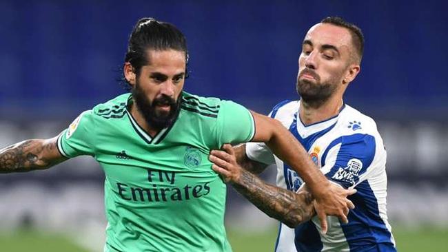 Isco không được Zidane trọng dụng