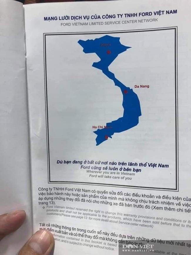 Ford Việt Nam sử dụng bản đồ không có quần đảo Hoàng Sa, Trường Sa? - Ảnh 1.