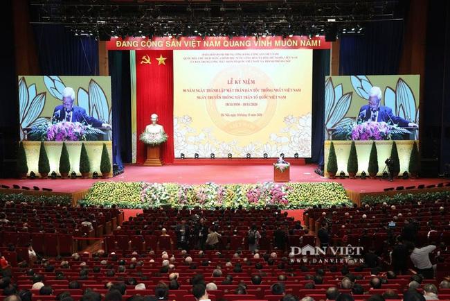 Lãnh đạo Đảng, Nhà nước dự Lễ kỷ niệm Ngày truyền thống Mặt trận Tổ quốc Việt Nam - Ảnh 1.