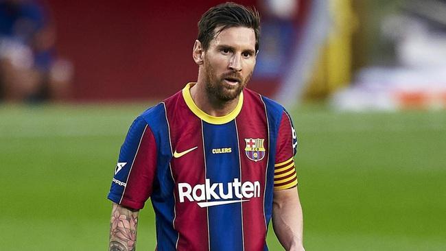 Messi chán nản vì những câu hỏi liên quan đến Griezmann.