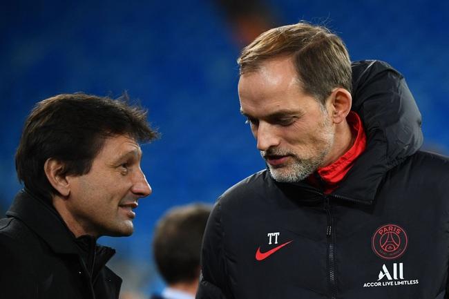 HLV Tuchel và giám đốc thể thao PSG, Leonardo.