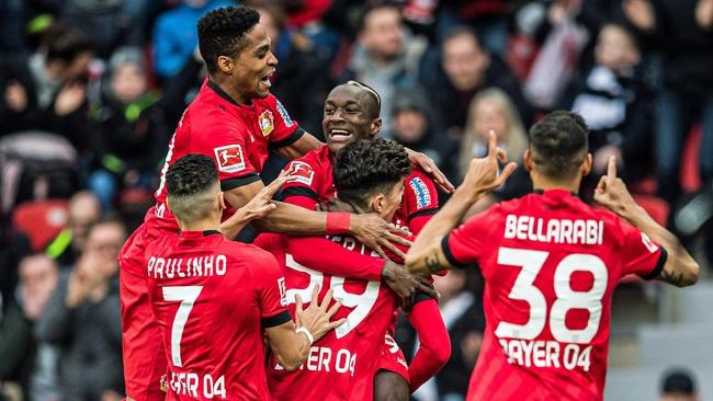 Leverkusen bất bại từ đầu mùa ở Bundesliga.