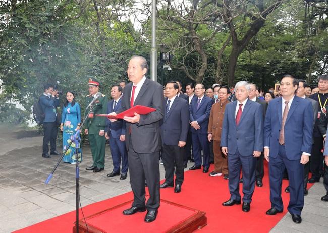 Đoàn Đại biểu các dân tộc thiểu số Việt Nam dâng hương tưởng nhớ các Vua Hùng - Ảnh 1.