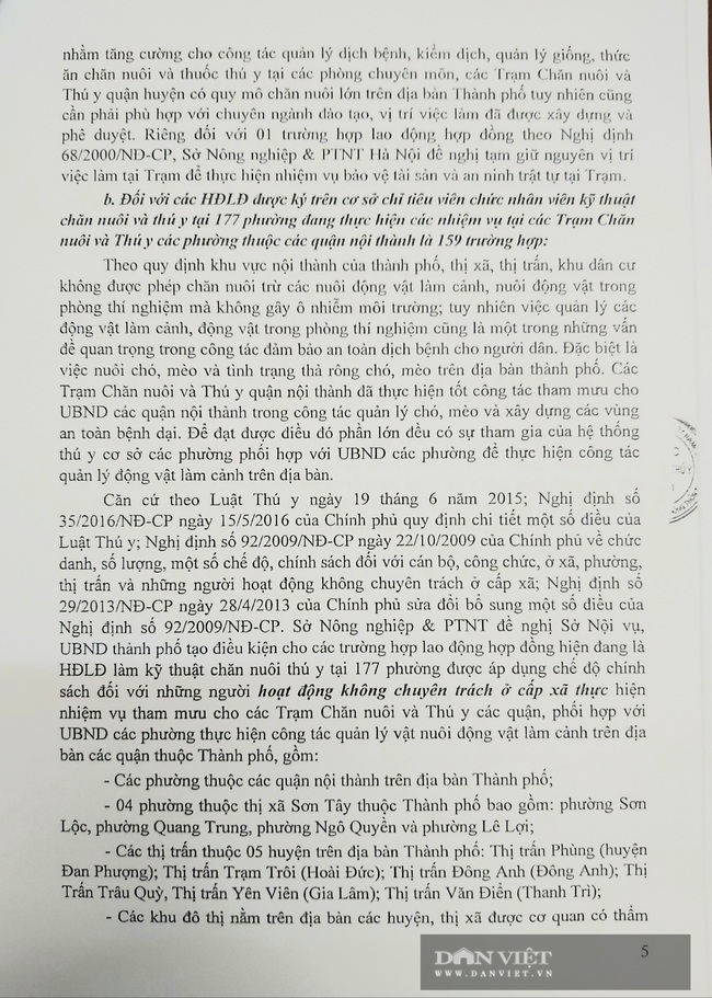 """154 nhân viên thú y Hà Nội bị mất việc: """"Làm thế này chẳng khác nào đưa chúng tôi vào đường cùng"""" - Ảnh 3."""