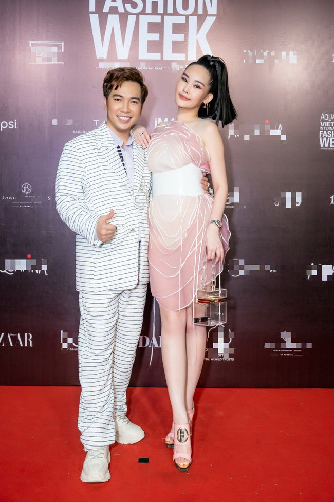 Hoa hậu Lê Âu Ngân Anh, Á hậu Kiều Loan đến ủng hộ nhà thiết kế Ivan Trần - Ảnh 1.