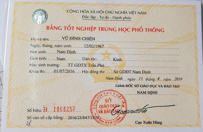 Nam Định: Chủ tịch mặt trận tổ quốc xã Yên Phúc làm giả tinh vi học bạ để thăng tiến - Ảnh 2.