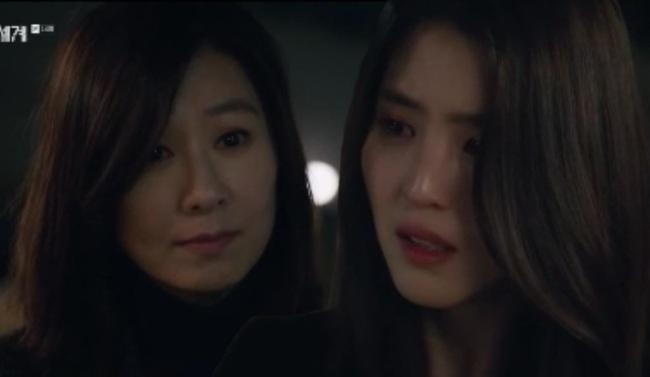 Sun Woo dằn mặt Da Kyung ở cuối tập 14 Thế giới hôn nhân.