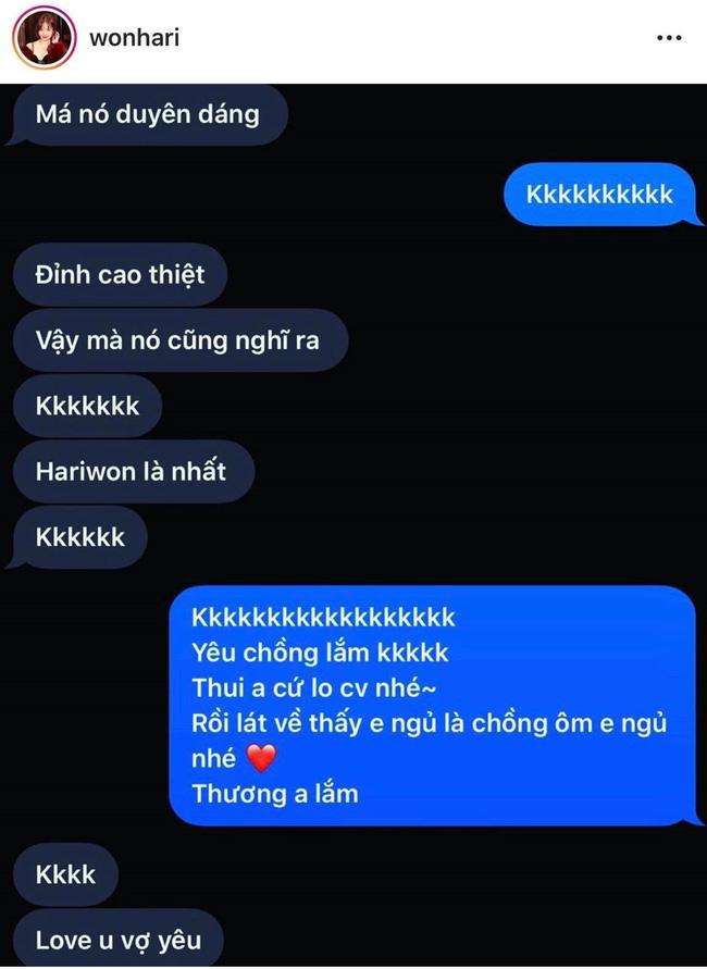 Hari Won tung tin nhắn ngọt hơn đường với Trấn Thành khiến các chị em phát hờn - Ảnh 3.