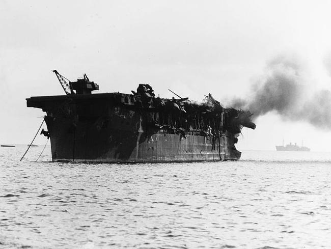 Kinh ngạc tàu sân bay Mỹ sống sót sau khi dính bom nguyên tử - Ảnh 4.