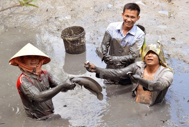 Bắt cá đồng mùa khô nơi đất Mũi  - Ảnh 2.