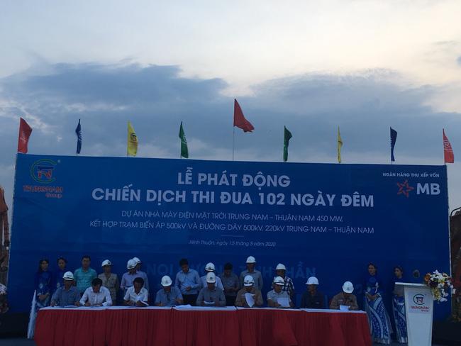 Thi đua 102 ngày đêm dự án nhà máy điện mặt trời Trung Nam – Thuận Nam - Ảnh 1.