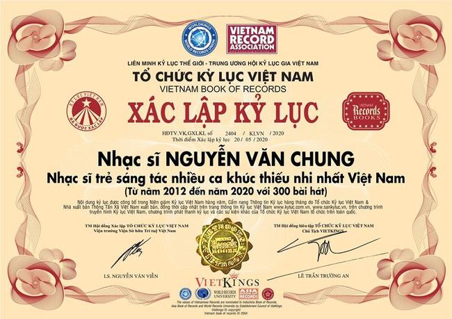 """Nhạc sĩ Nguyễn Văn Chung lập kỷ lục sáng tác 300 bài hát thiếu nhi sau""""Nhật ký của mẹ"""" nổi tiếng thế giới - Ảnh 2."""