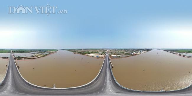 Cận cảnh cầu Thịnh Long nối đôi bờ sông Ninh Cơ trước ngày thông xe - Ảnh 2.