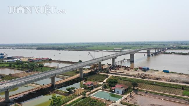 Cận cảnh cầu Thịnh Long nối đôi bờ sông Ninh Cơ trước ngày thông xe - Ảnh 10.