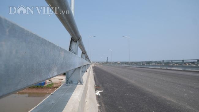 Cận cảnh cầu Thịnh Long nối đôi bờ sông Ninh Cơ trước ngày thông xe - Ảnh 4.