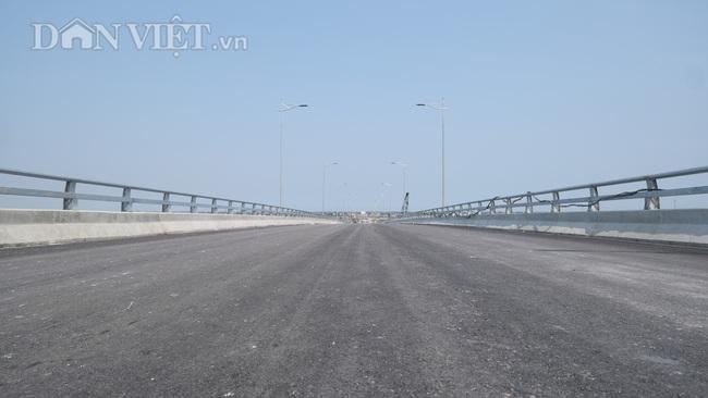 Cận cảnh cầu Thịnh Long nối đôi bờ sông Ninh Cơ trước ngày thông xe - Ảnh 6.
