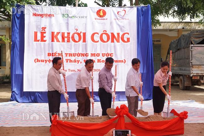 Báo Dân Việt khởi công phòng học tại điểm trường ở Kon Tum - Ảnh 2.