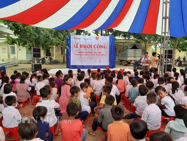 Báo Dân Việt khởi công phòng học tại điểm trường ở Kon Tum - Ảnh 3.