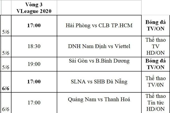 Lịch phát sóng trực tiếp vòng 3 V.League và vòng 1 Hạng nhất Quốc gia - Ảnh 2.
