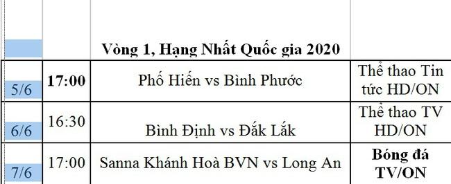 Lịch phát sóng trực tiếp vòng 3 V.League và vòng 1 Hạng nhất Quốc gia - Ảnh 4.