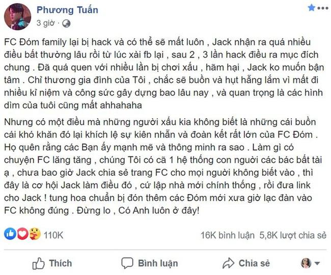 """Jack tức giận vì bị """"chiếm đoạt"""" diễn đàn của FC, quá quen với việc bị chơi xấu - Ảnh 3."""