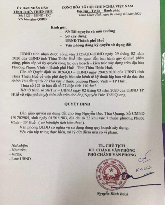 Vụ lừa đảo tiền tỷ ở Huế: Tung tin bán đất của lãnh đạo tỉnh với giá nội bộ  - Ảnh 2.