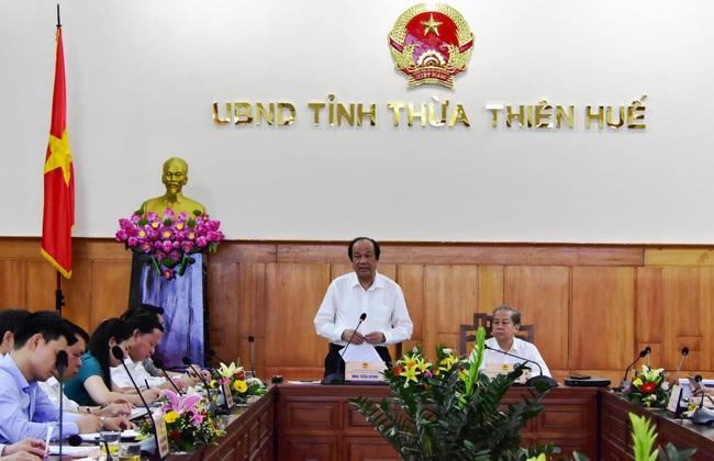 VP Chính phủ hỗ trợ TT- Huế xây dựng cơ chế đặc thù lên thành phố T.Ư  - Ảnh 1.
