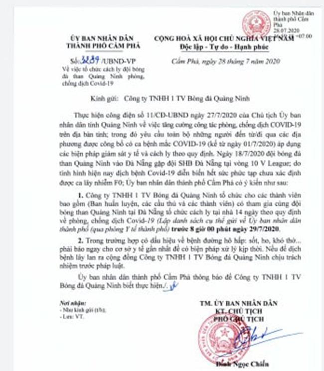 Than Quảng Ninh phải cách ly, Cúp Quốc gia lại phải lùi lịch - Ảnh 1.