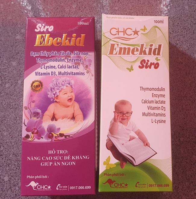 """Thực phẩm bảo vệ sức khoẻ Emekid Siro và Siro Ebekid bị """"tố"""" không đạt hàm lượng, Công ty CHC- Úc nói gì? - Ảnh 1."""