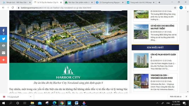 Cảnh giác với chào mời dự án nhà ở tại cảng Phú Định, quận 8 - Ảnh 1.