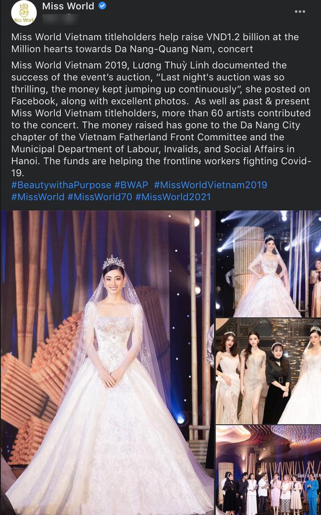 Lương Thùy Linh được BTC Hoa hậu Thế giới hết lời khen ngợi vì hành động đẹp giữa mùa dịch Covid-19 - Ảnh 2.