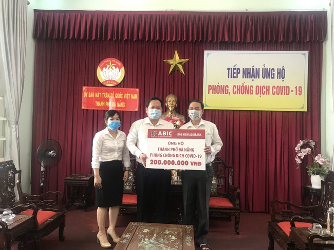 Công ty Cổ phẩn bảo hiểm Ngân hàng Nông nghiệp: Tiếp sức cùng Đà Nẵng, Quảng Nam phòng chống dịch Covid-19 - Ảnh 1.