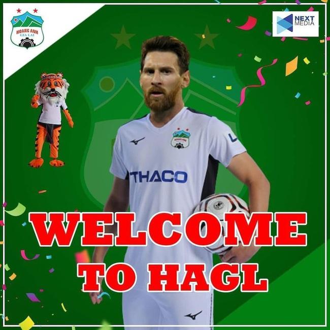 """ẢNH CHẾ: Rời Barcelona, Messi sang Việt Nam """"khuấy đảo"""" V.League - Ảnh 2."""