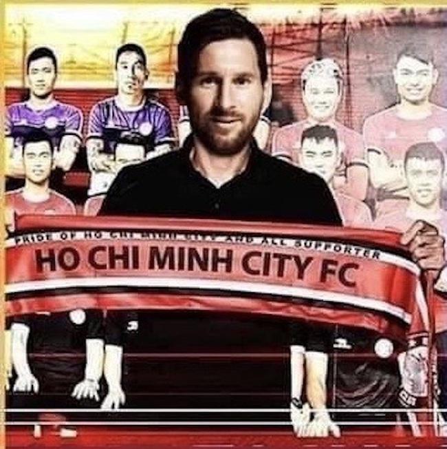 """ẢNH CHẾ: Rời Barcelona, Messi sang Việt Nam """"khuấy đảo"""" V.League - Ảnh 4."""