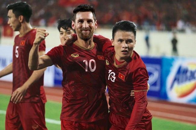 """ẢNH CHẾ: Rời Barcelona, Messi sang Việt Nam """"khuấy đảo"""" V.League - Ảnh 6."""