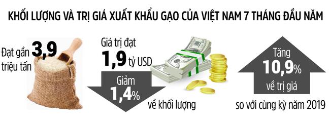 Giá xuất khẩu 1.000USD/tấn, gạo Việt lập kỷ lục mới - Ảnh 2.
