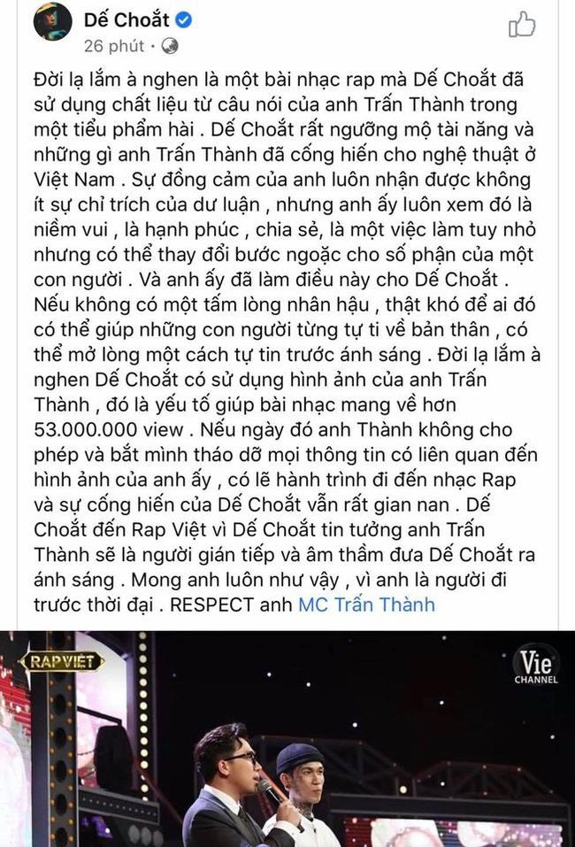 """Thí sinh """"gây bão"""" Rap Việt bằng thơ Tố Hữu bênh vực Trấn Thành, """"vỗ miệng"""" anti-fan - Ảnh 3."""
