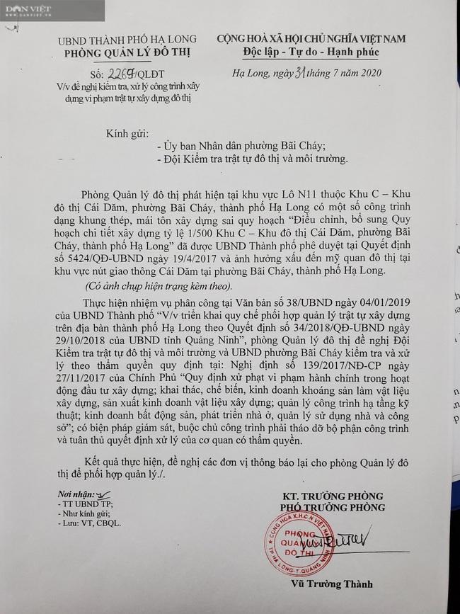 Quảng Ninh: Công trình trái phép, bị lập biên bản vẫn cố xây tiếp - Ảnh 2.
