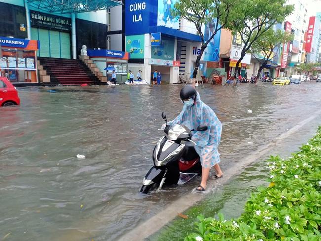 Đà Nẵng: Đường ngập, cây gãy cành đè nhà người dân do ảnh hưởng bão số 5 - Ảnh 2.