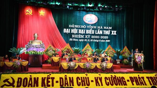 Hà Nam khai mạc Đại hội Đảng bộ cấp tỉnh đầu tiên trong cả nước - Ảnh 2.
