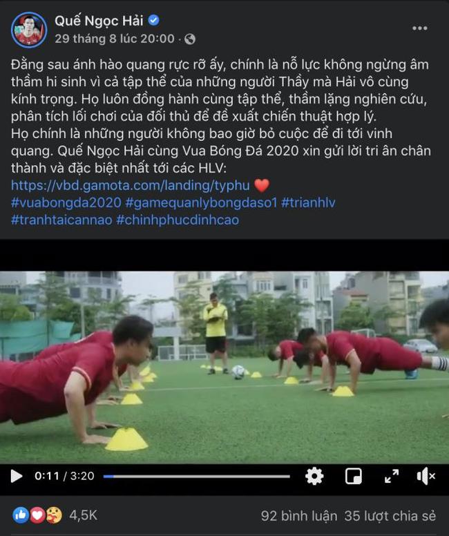 """Đóng quảng cáo vi phạm bản quyền, Quế Ngọc Hải bị VFF """"tuýt còi"""" - Ảnh 2."""