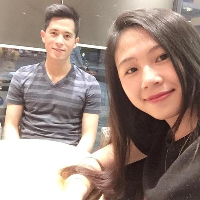 """Đình Trọng và bạn gái Trang """"Heo"""""""